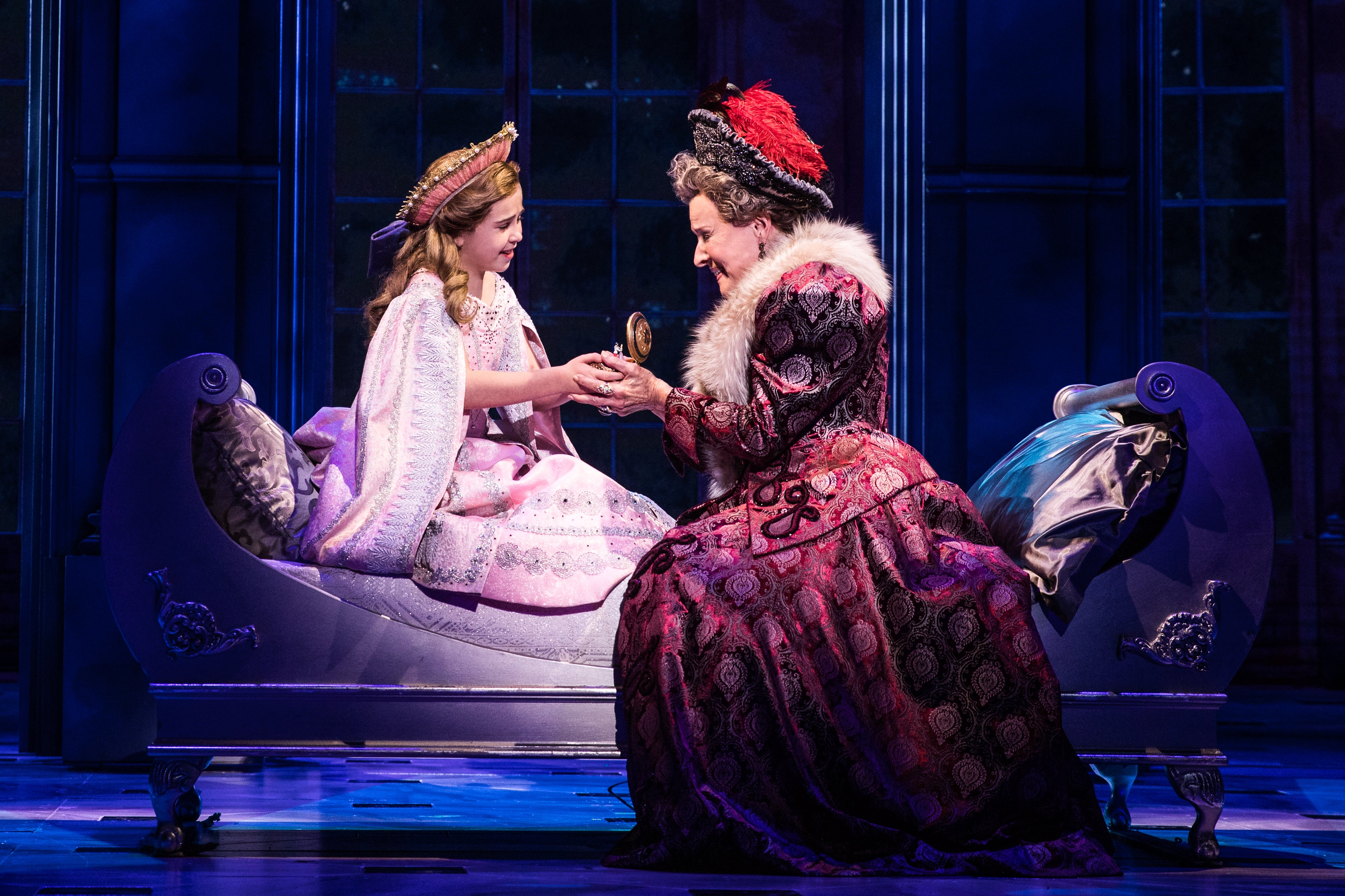 1 - Victoria Bingham (Little Anastasia) and Joy Franz (Dowager Empress) in the National Tour of ANASTASIA. Photo by Evan Zimmerman, MurphyMade..jpg