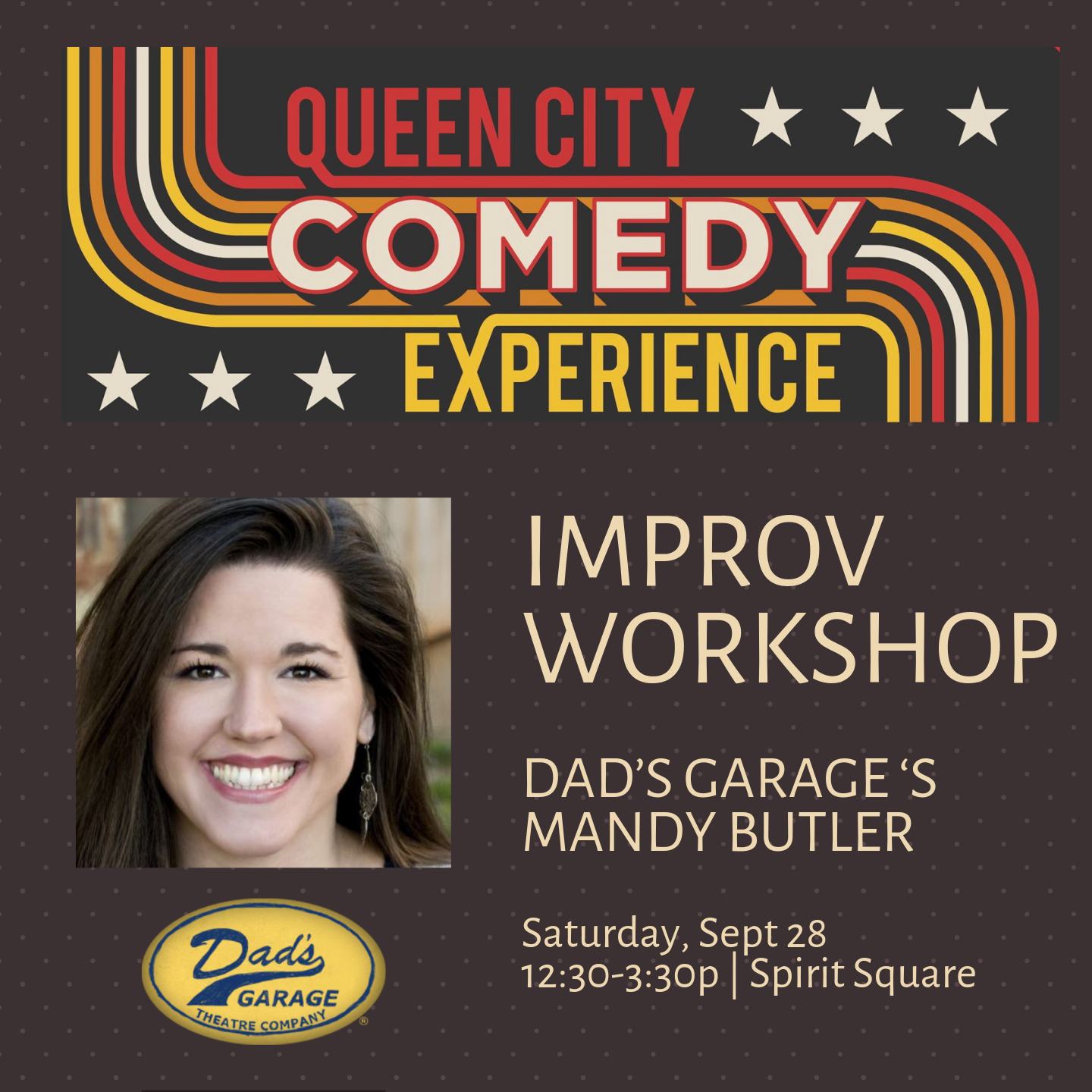 Queen City Comedy Experience Workshop: Improv Booster Shot for Advanced Improvisers with Mandy Butler from Dad's Garage