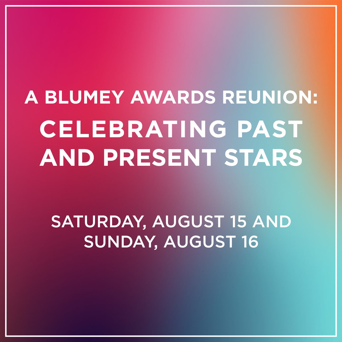 A Blumey Awards Reunion: Celebrating Past and Present Stars