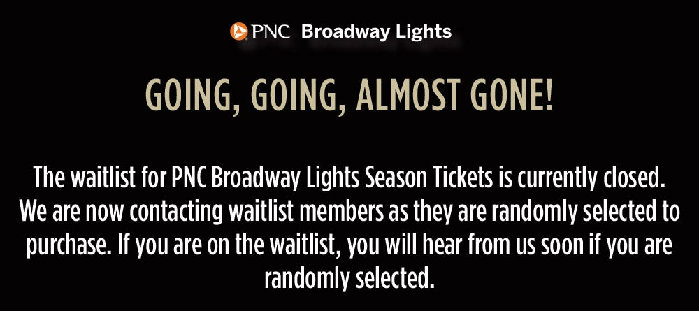 Broadway Lights Season Tickets Blumenthal Performing Arts