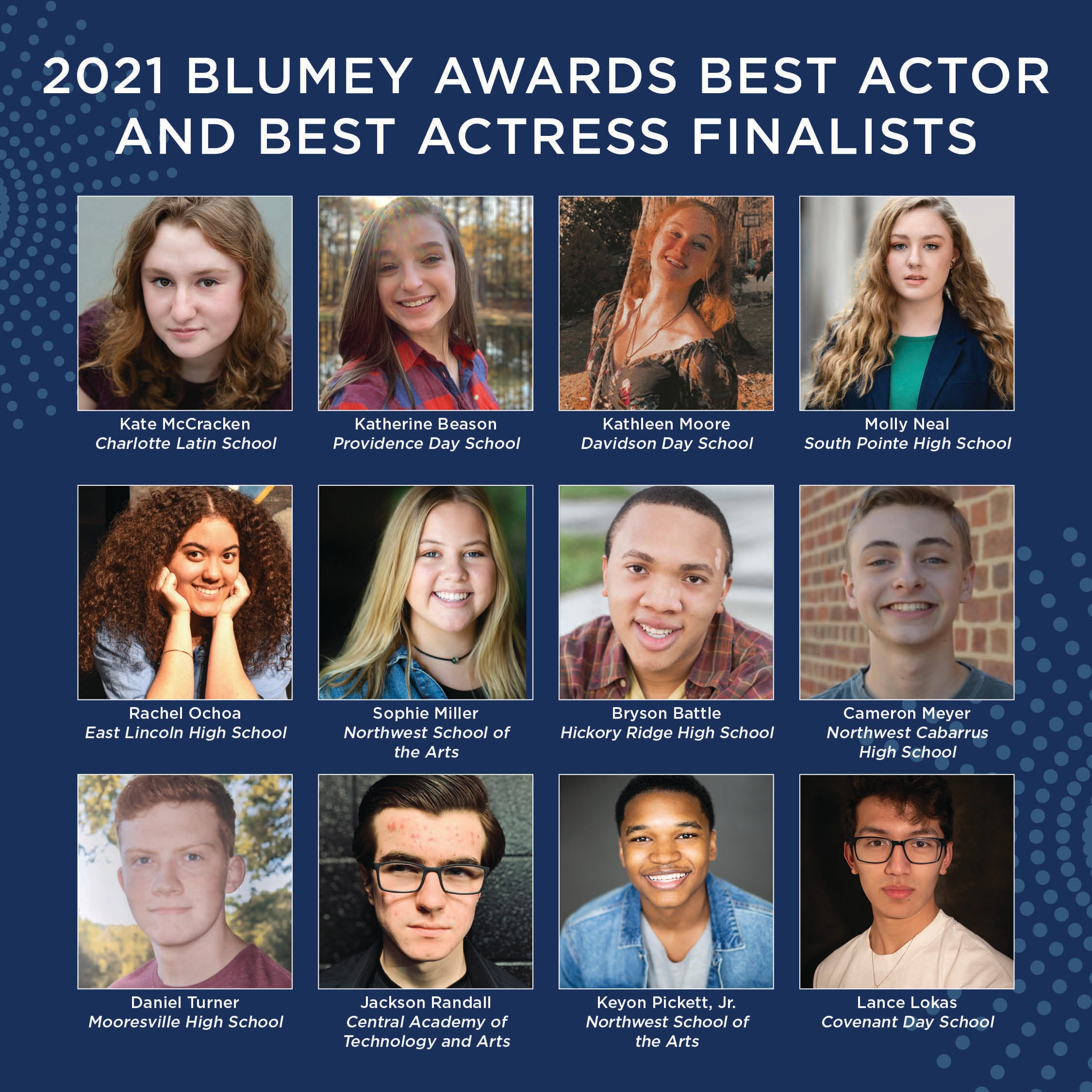 More Info for Blumenthal Performing Arts Announces the 2021 Blumey Awards Best Actor and Best Actress Finalists