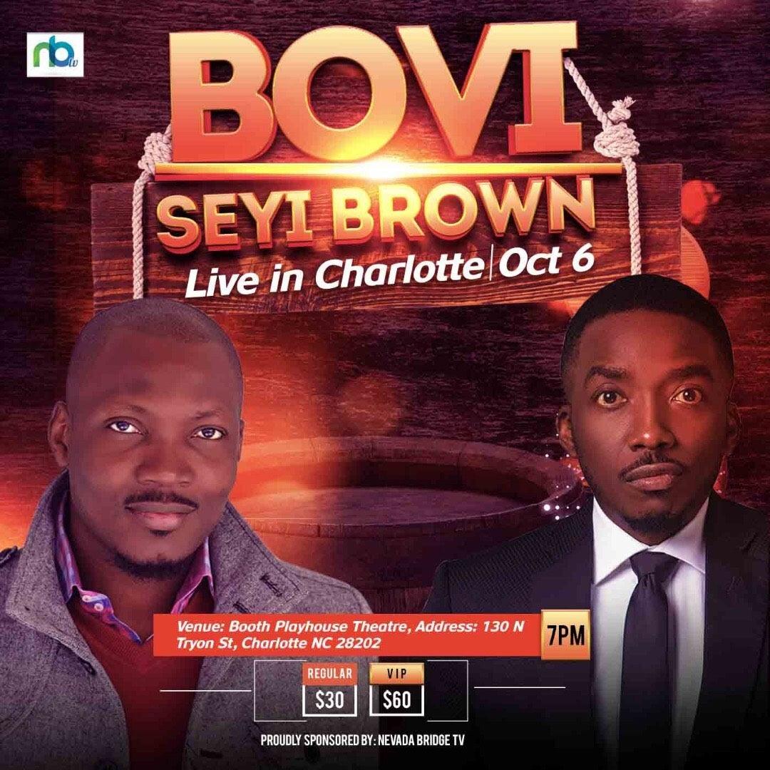 Bovi & Seyi Comedy Show: Live in Charlotte