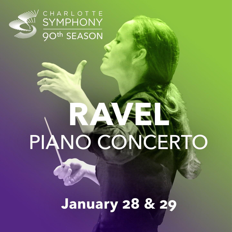 Charlotte Symphony Orchestra presents Ravel Piano Concerto