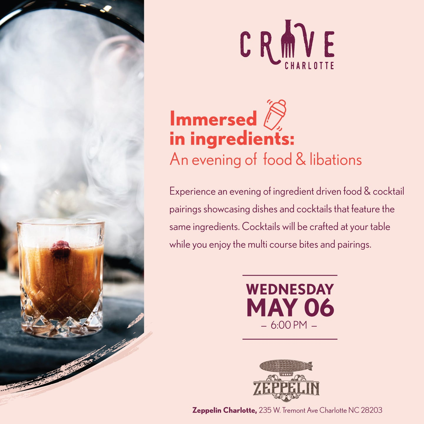 Immersed in Ingredients: An evening of food & libations