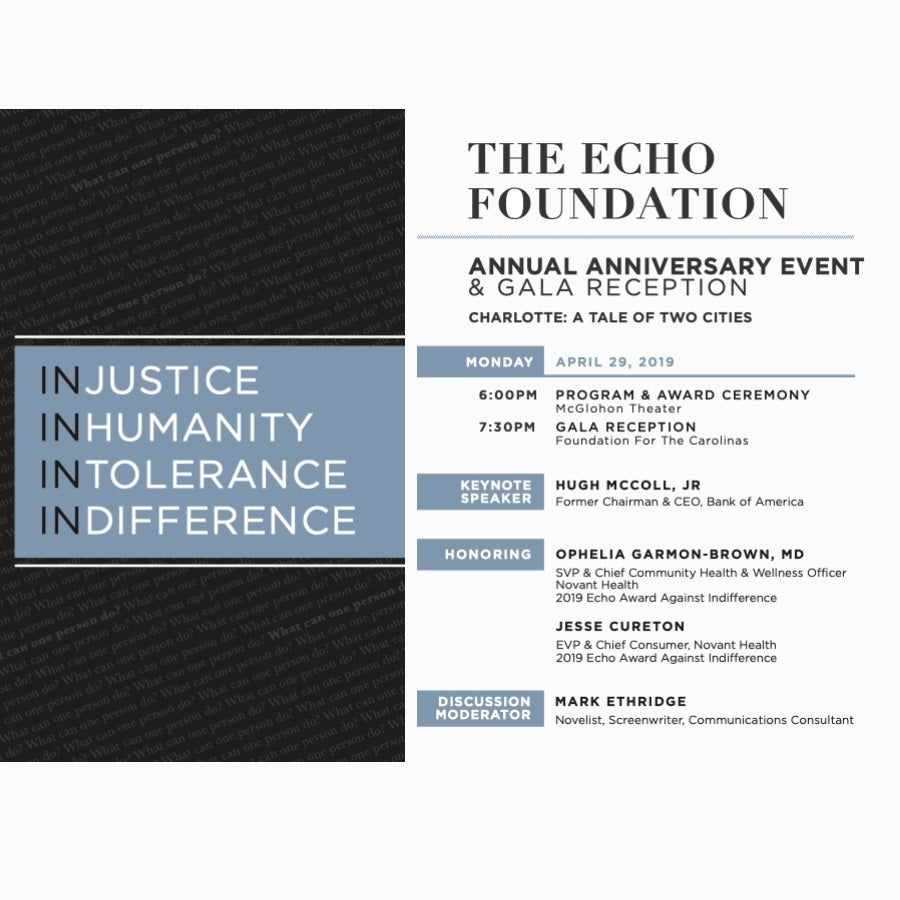 Echo Foundation Award Event: Charlotte: A Tale of Two Cities