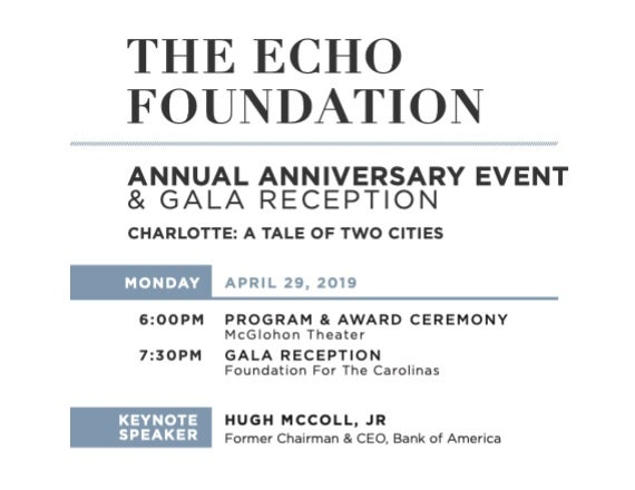 More Info for Echo Foundation Award Event: Charlotte: A Tale of Two Cities