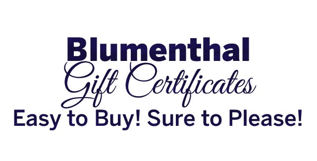 gift certificates blumenthal performing arts
