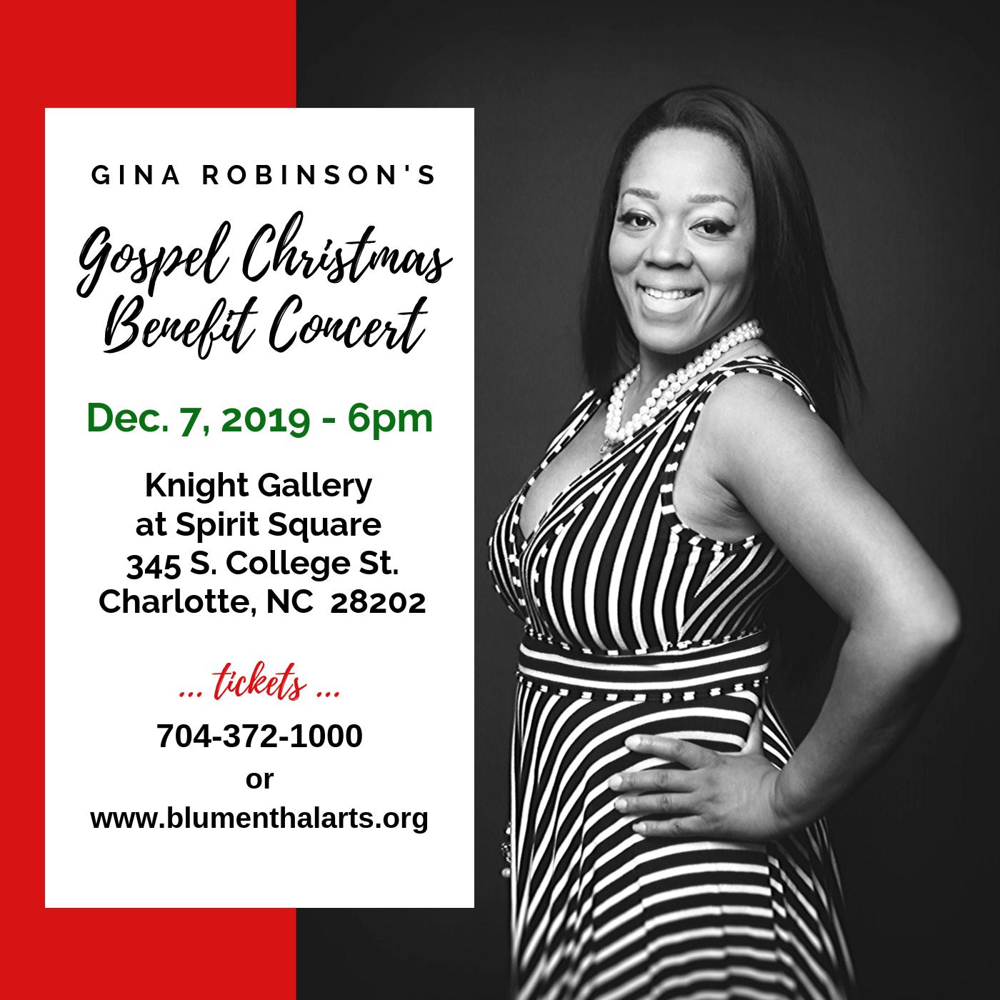 Gina Robinson's Gospel Christmas Benefit Concert