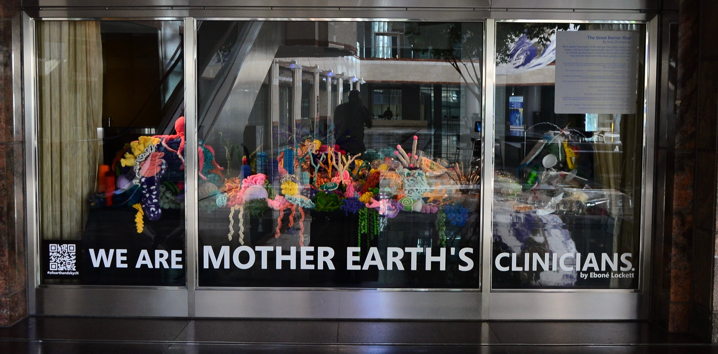 """More Info for New Public Art Piece Created by Local Artist Captures """"The Great Barrier Reef"""" in Crochet and Reminds Us How To Take Better Care of the Planet"""