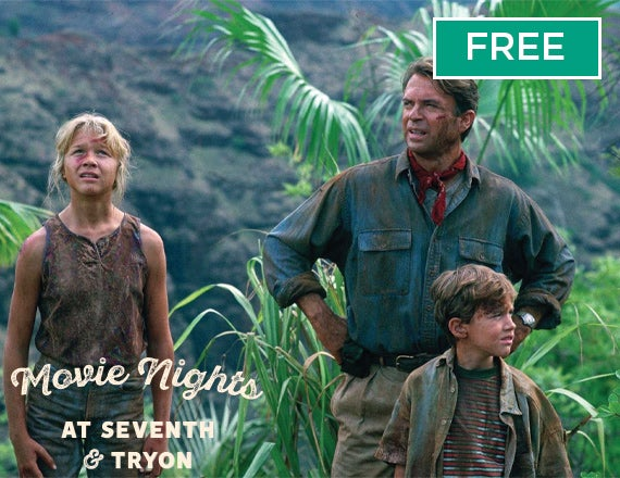 More Info for Movie Nights at Seventh & Tryon: Jurassic Park
