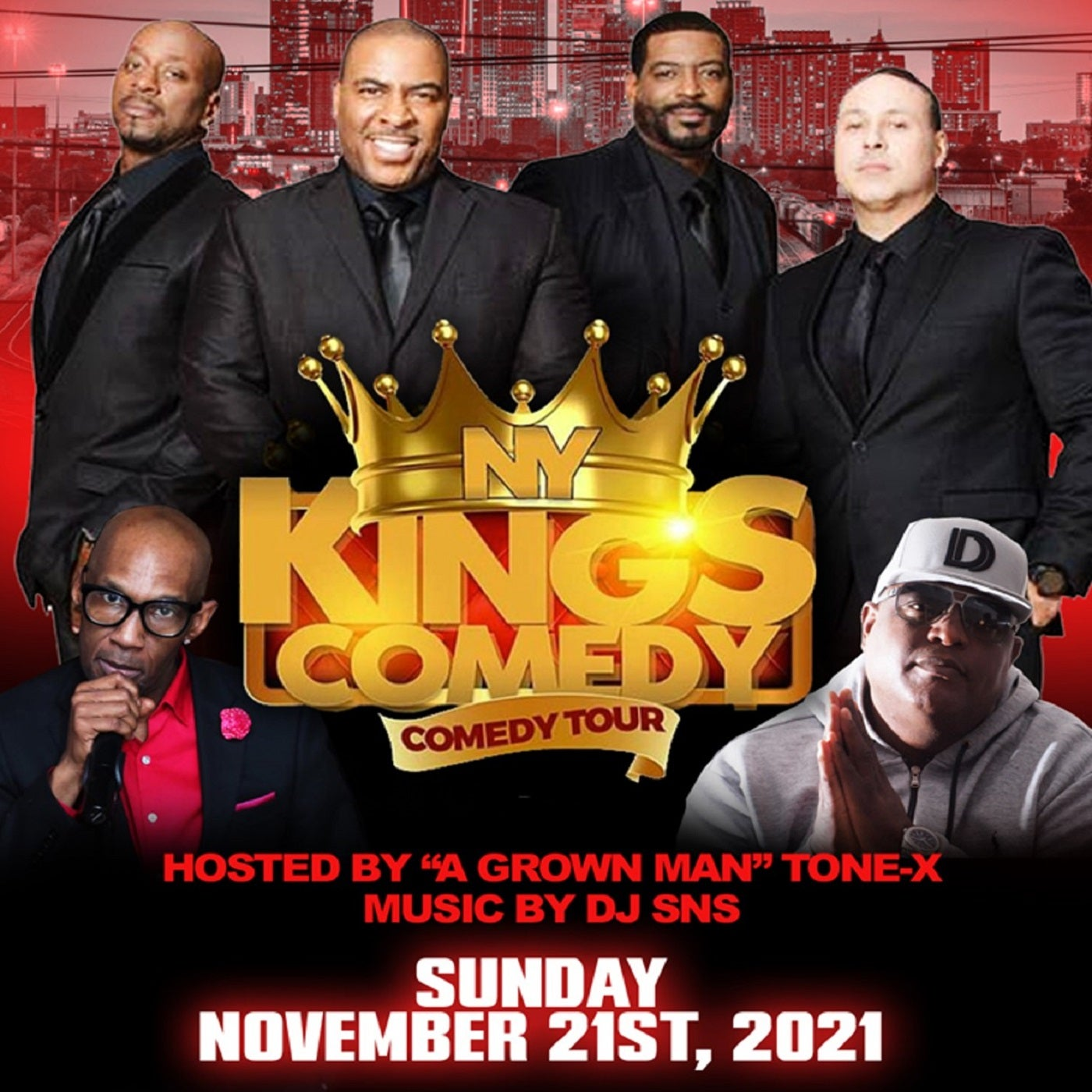 NY Kings of Comedy Tour Featuring Mark Vera, Talent, Rob Stapleton & Capone hosted by Tone X