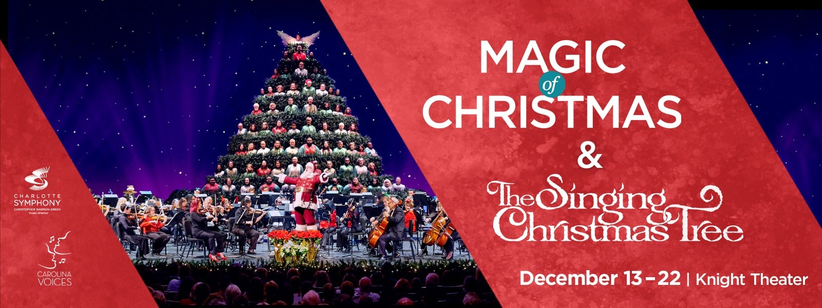 Singing Christmas Tree.Charlotte Symphony Carolina Voices Magic Of Christmas And