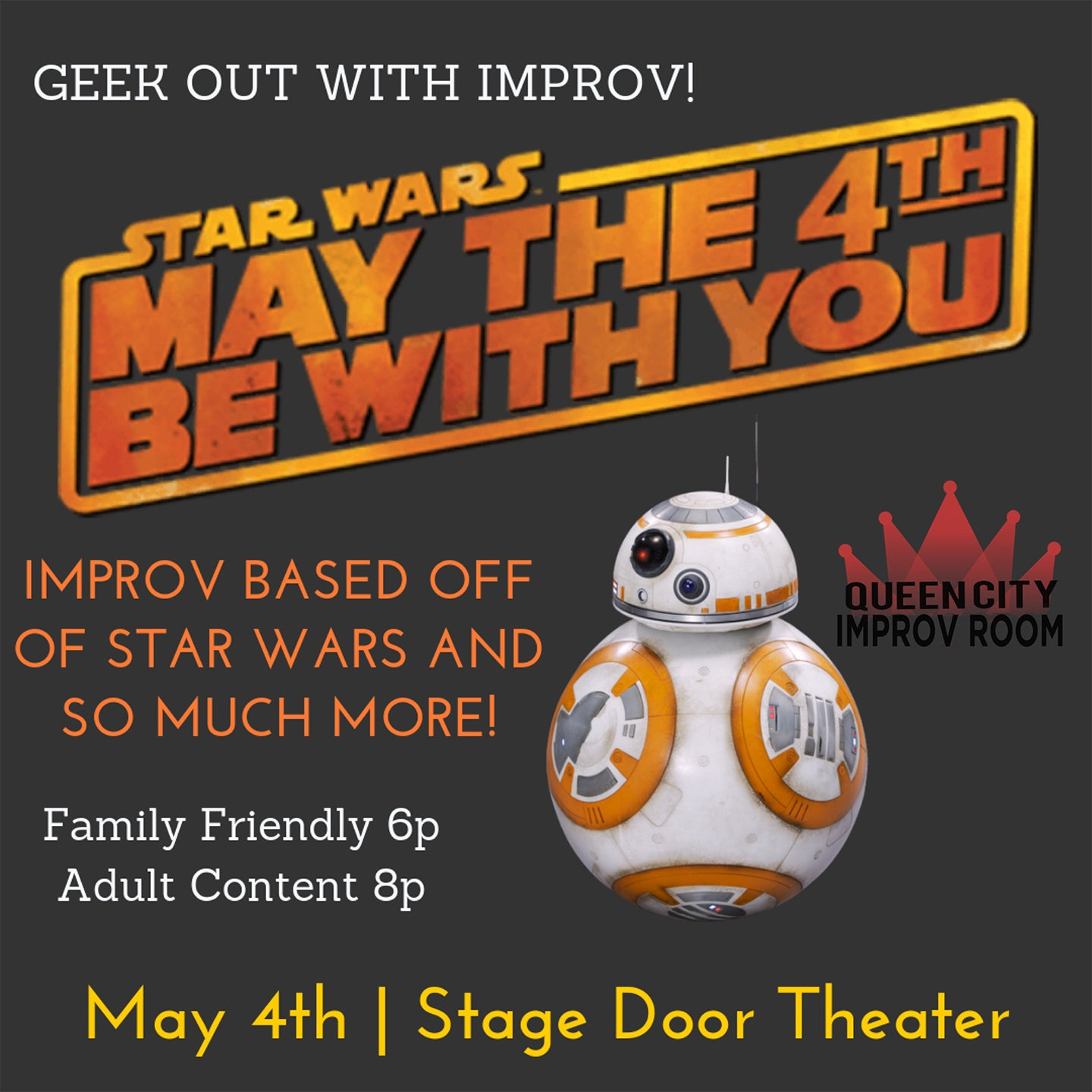 Queen City Improv Room: Family Friendly Geek Show