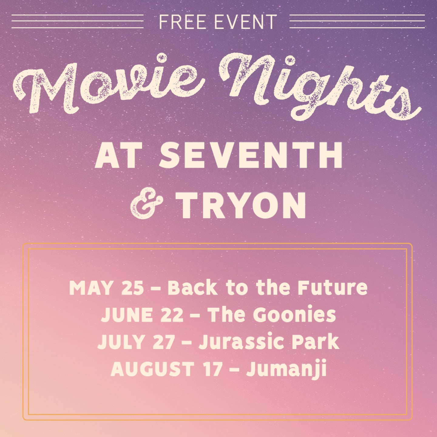 Movie Nights at Seventh & Tryon: The Goonies