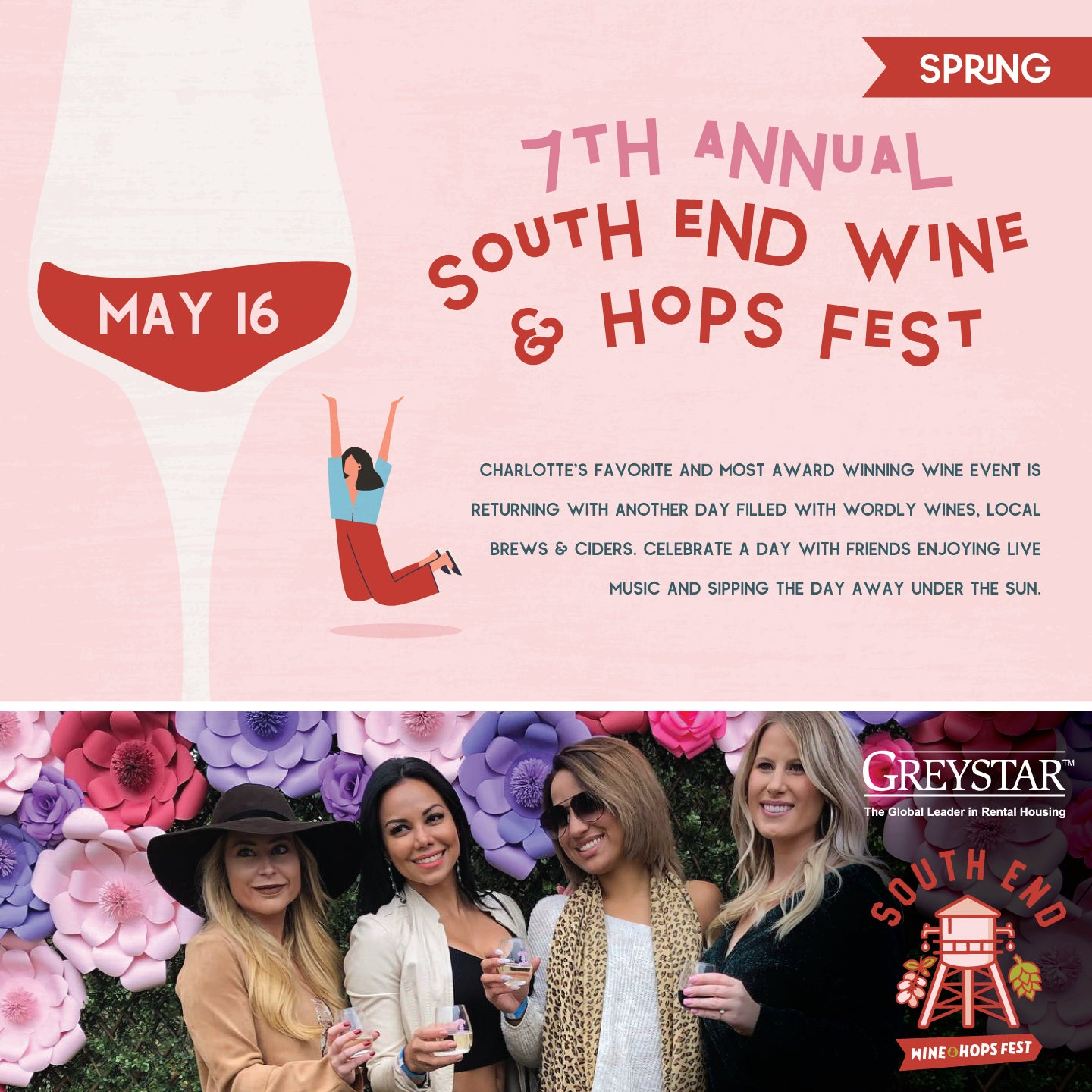 7th Annual Spring South End Wine and Hops Fest - Sunday