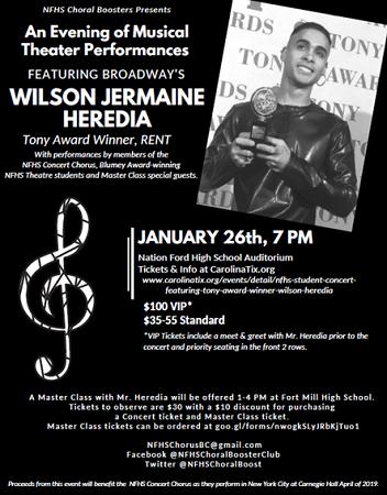 NFHS Student Concert featuring Tony Award Winner Wilson Jermaine Heredia