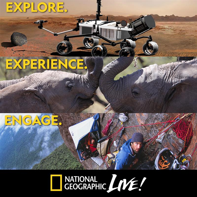 More Info for National Geographic Live Returns for a Third Season, Presented by Blumenthal Performing Arts and Discovery Place Science