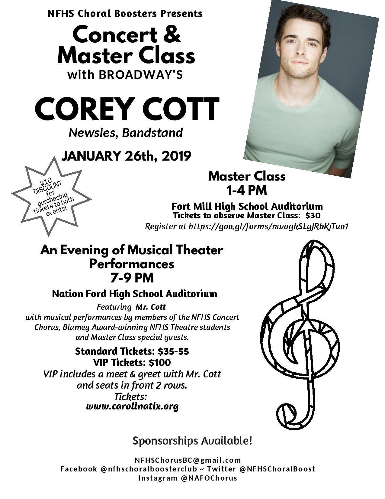NFHS Student Concert featuring Corey Cott